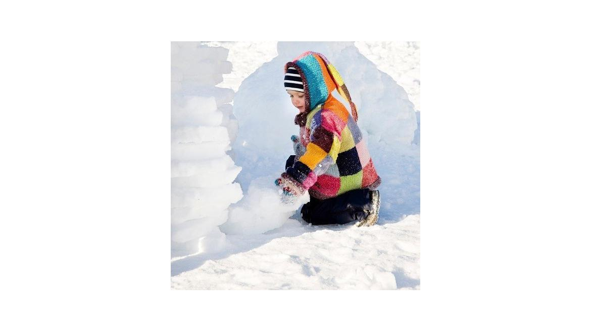 28. 12. 2018<br>Building snow sculptures in a children's ski nursery