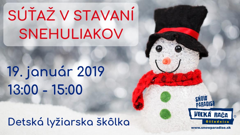 19. 1. 2019<br>Súťaž v stavaní snehuliakov