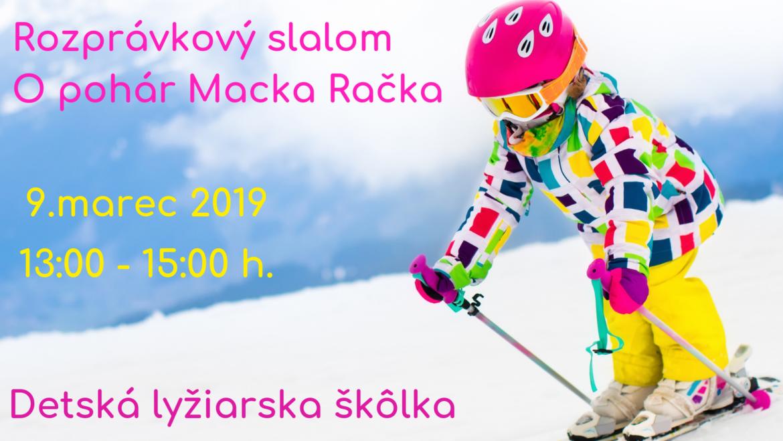9.3.2019<br>Rozprávkový slalom O pohár Macka Račka