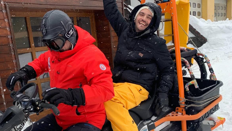 Ako jazdil Bekim na svahu v Snowparadise