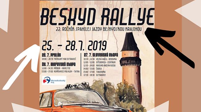 27.7.2019<br>Medzinárodná prehliadka historických vozidiel- Beskyd Rallye
