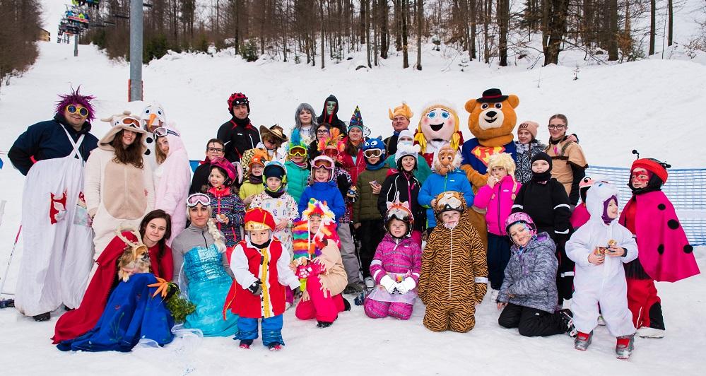 1.2.2020<br>Karnevalová lyžovačka v maskách