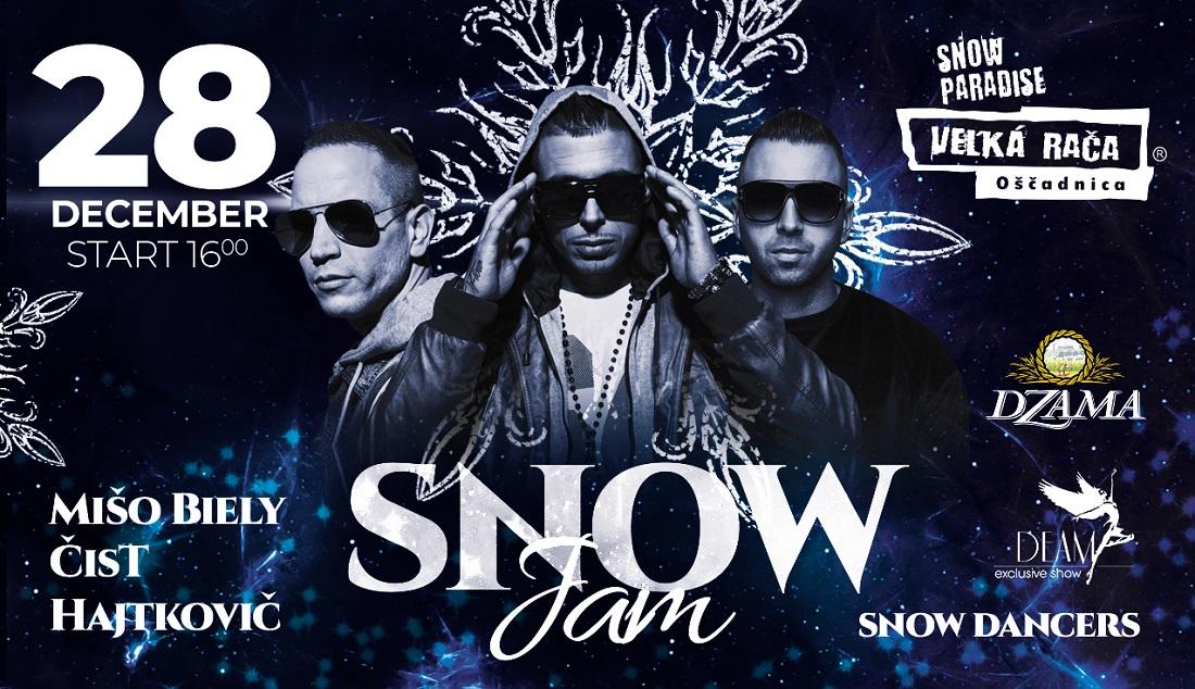 28.12.2019<br>SNOW JAM s DJ Hajtkovič, Čistychov a Mišo Biely