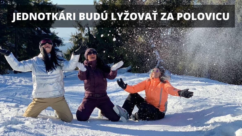 Jednotkári budú lyžovať v pondelok za polovicu