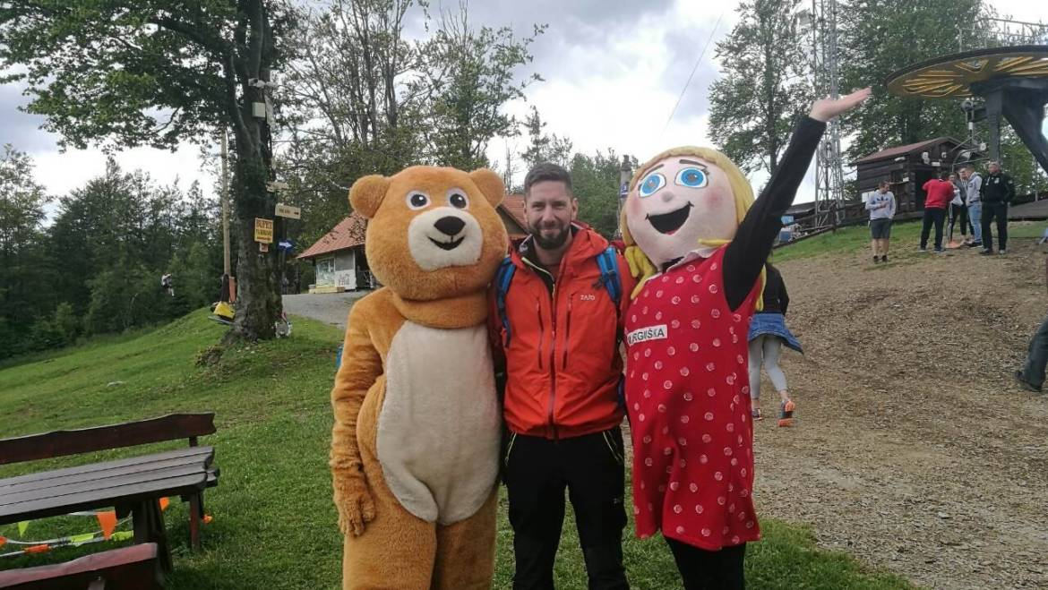 Excellent comedian and actor Juraj SHOCKO Tabaček enjoyed a ride on the bobsleigh track